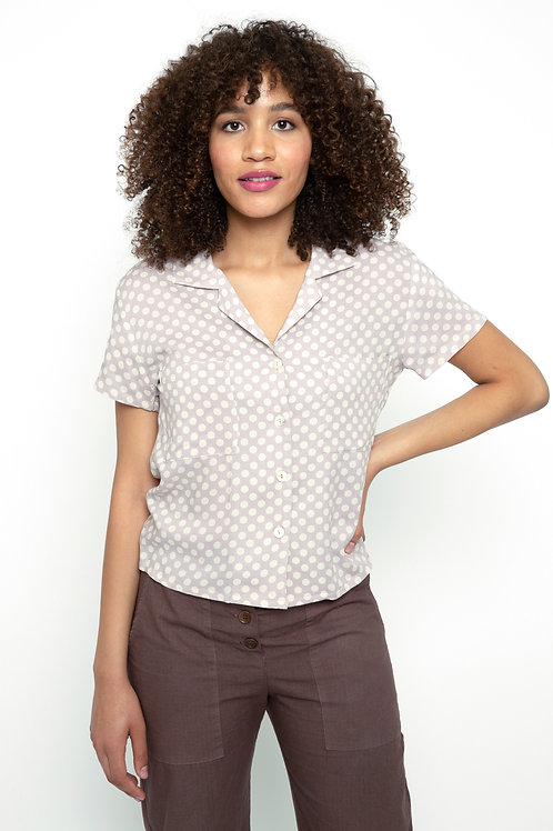 Sarah blouse in Lilac polka