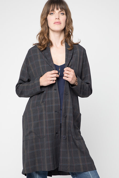 Kelly coat in Winter plaid