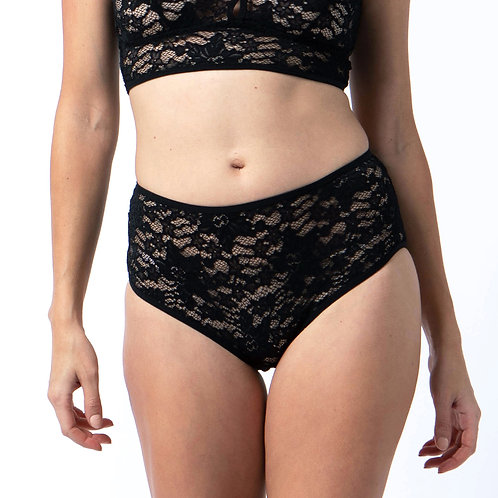 Lace brief in Black
