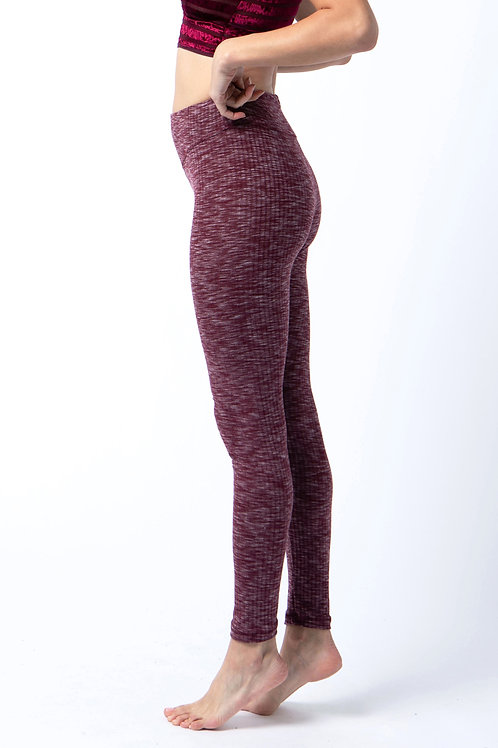 Leggings in Wine heather