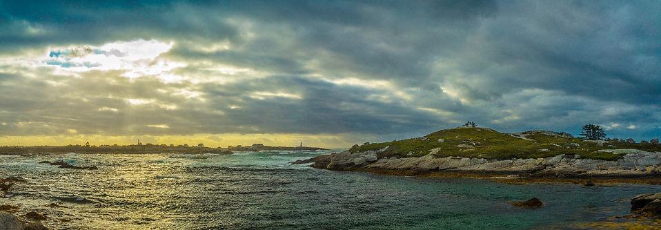 Peggy's Cove Dramatic Sky B& W Pano_edit