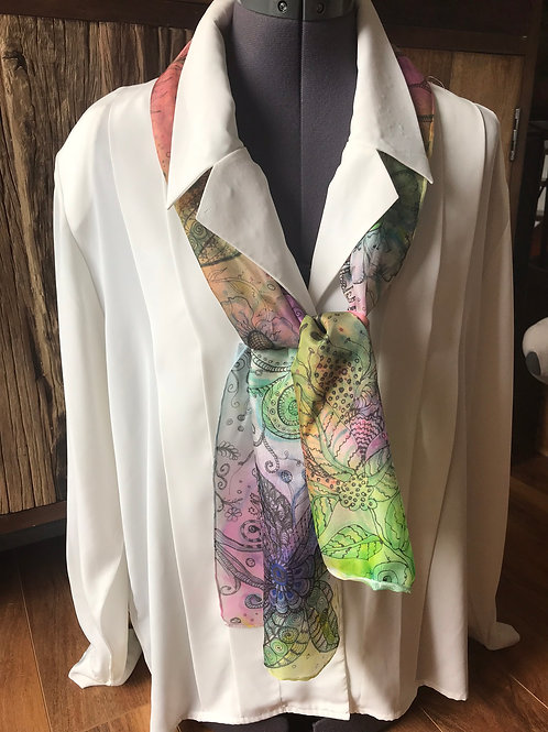 Hand Painted Silk Scarf #1