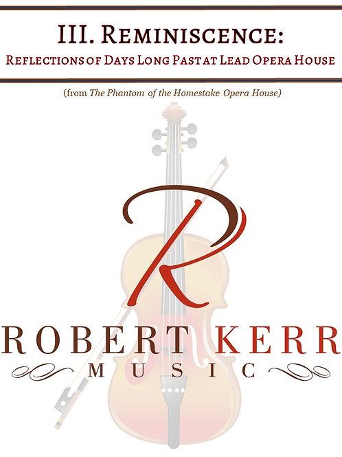 III. Reminiscence - Full Score & Parts