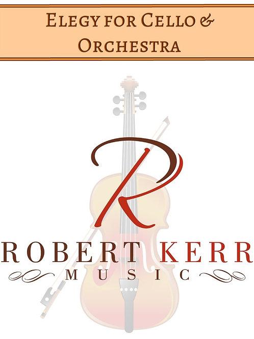 Elegy for Cello & Orchestra - Full Score & Parts