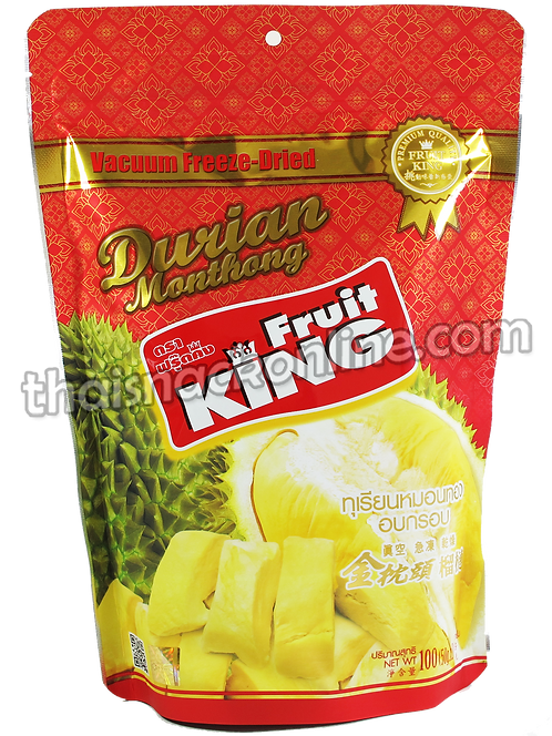 Fruit King - Dried Durian Monthong  (100g)