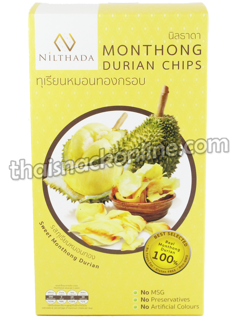 Nilthada - Durian Chips Sweet Monthong