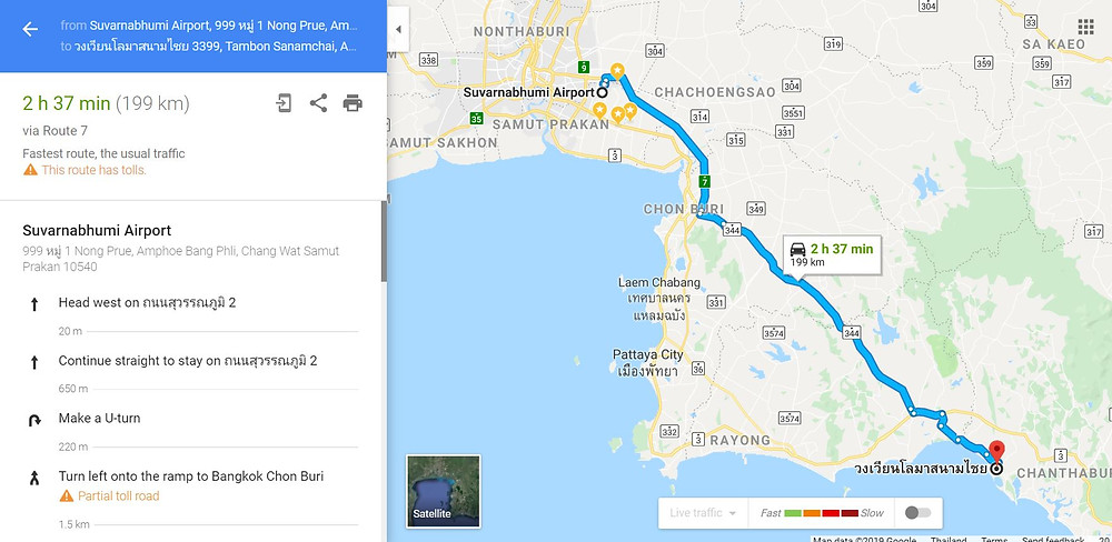 From airport to Chanthaburi