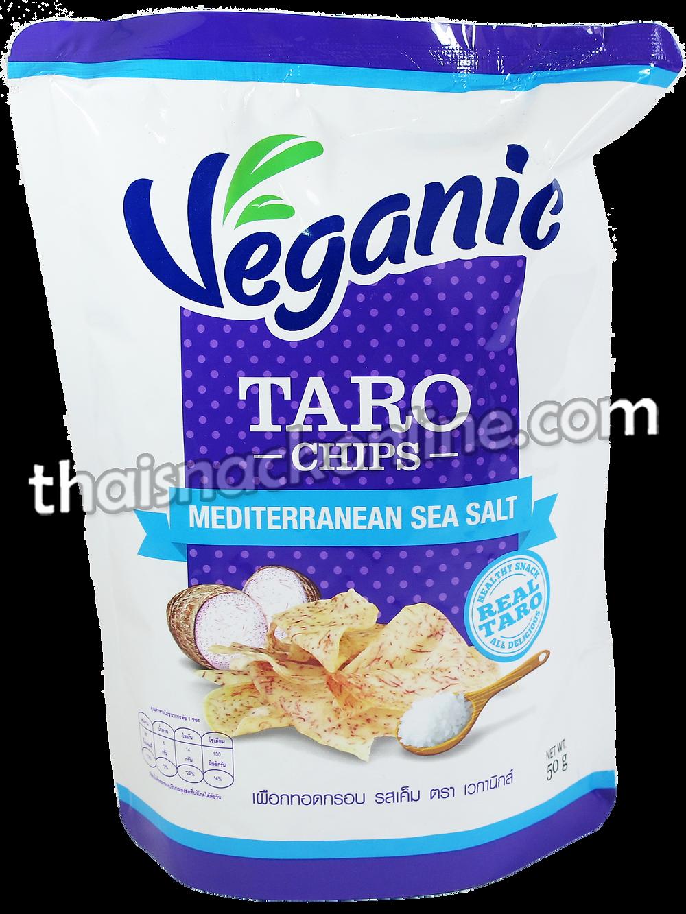 Veganic - Taro Chips Mediterranean Sea Salt