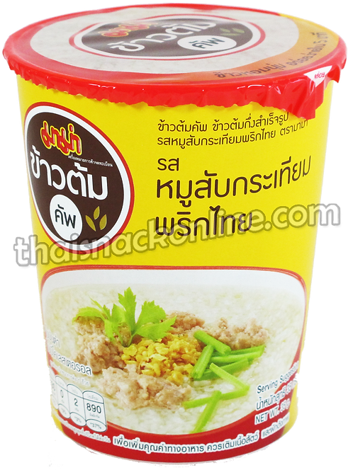 Mama Cup - Rice Soup Minced Pork with Garlic (35g)