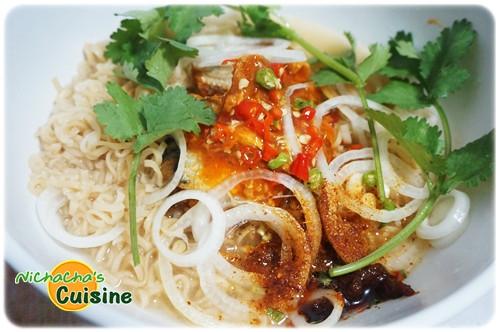 Noodle mixed Tuna Spicy Salad