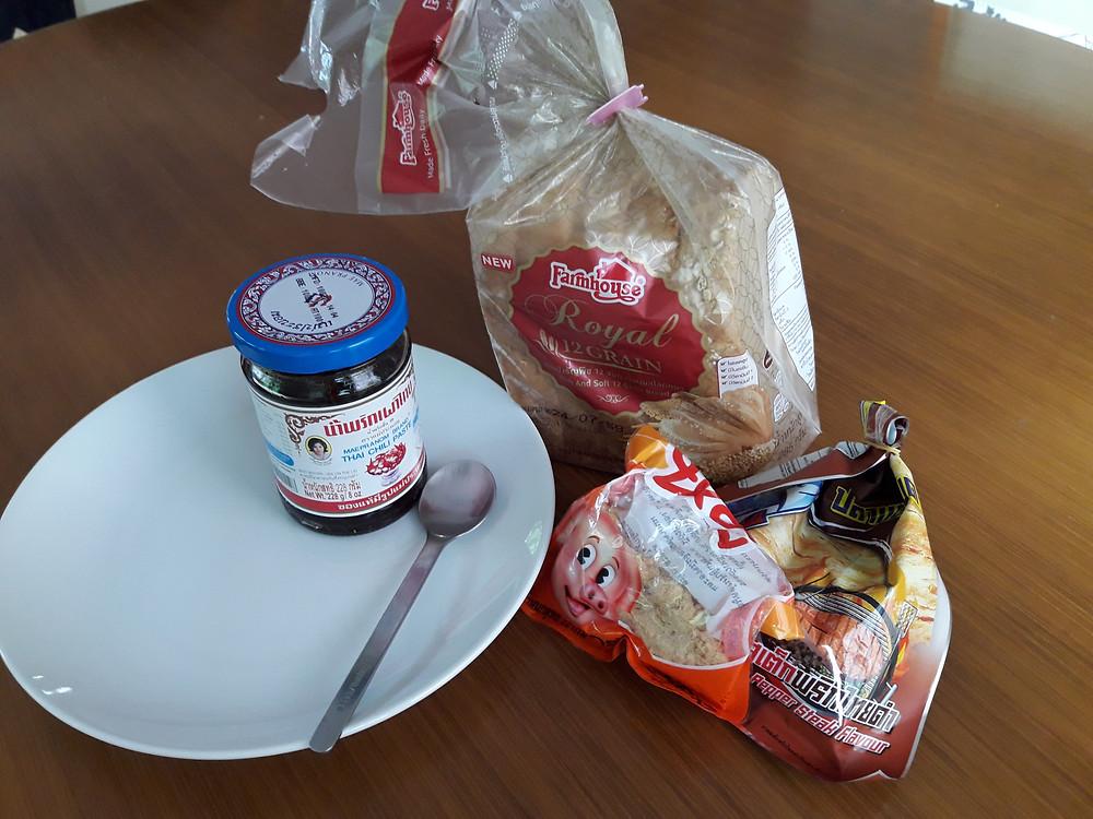 Ingredients for Spicy Pork Sandwich
