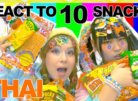 Japanese & German girl try THAI SNACKS |  Ask Japanese