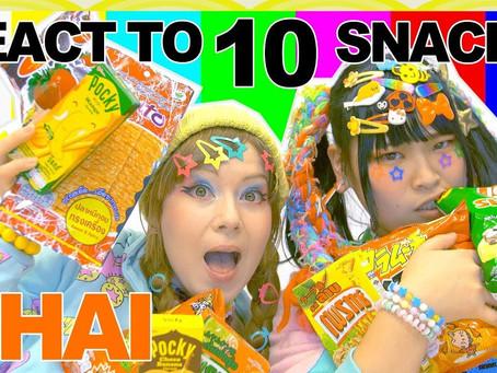 Japanese & German girl try THAI SNACKS |  Ask Japanese