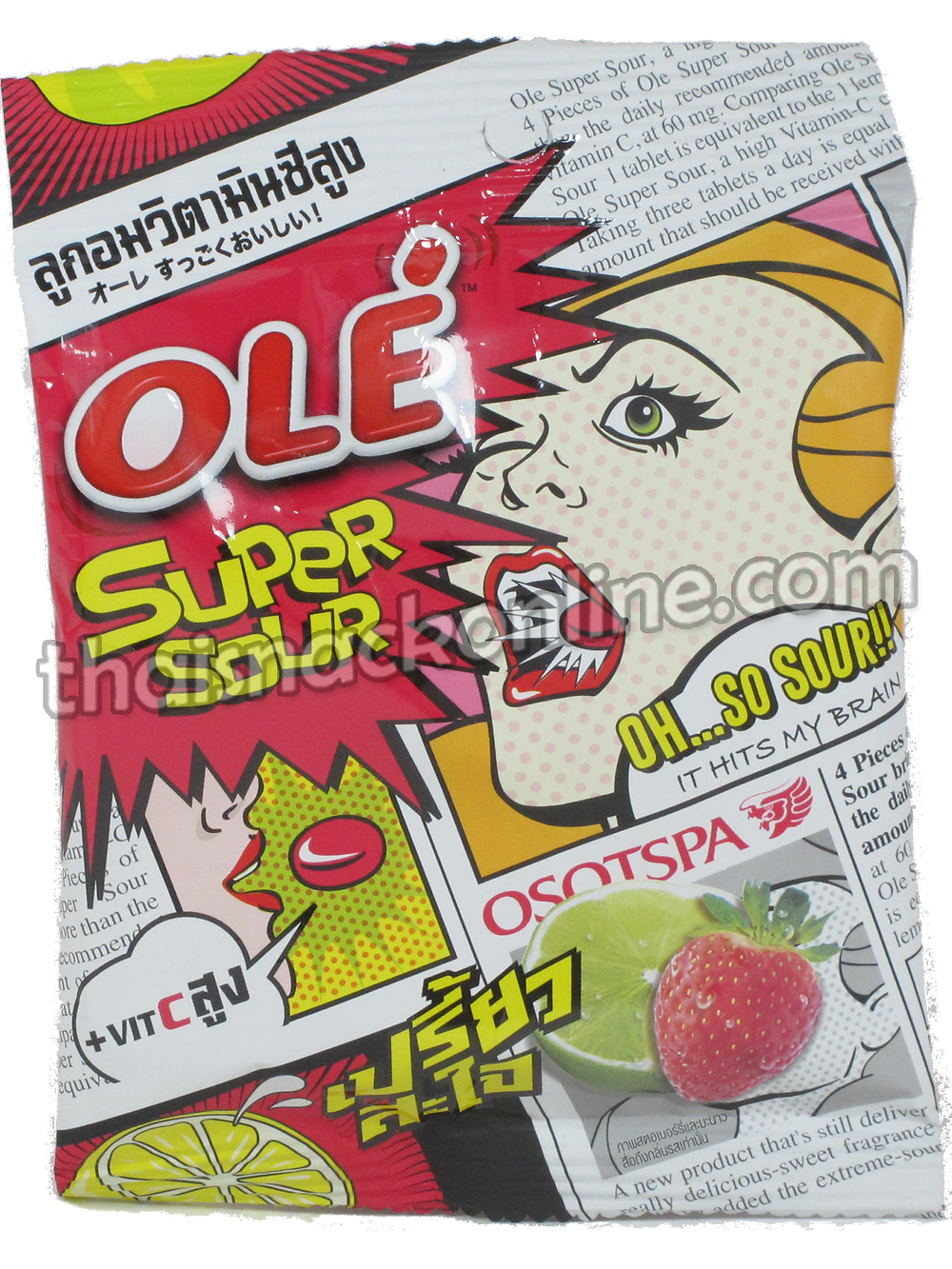 Ole' - Super Sour Candy Strawberry Lime