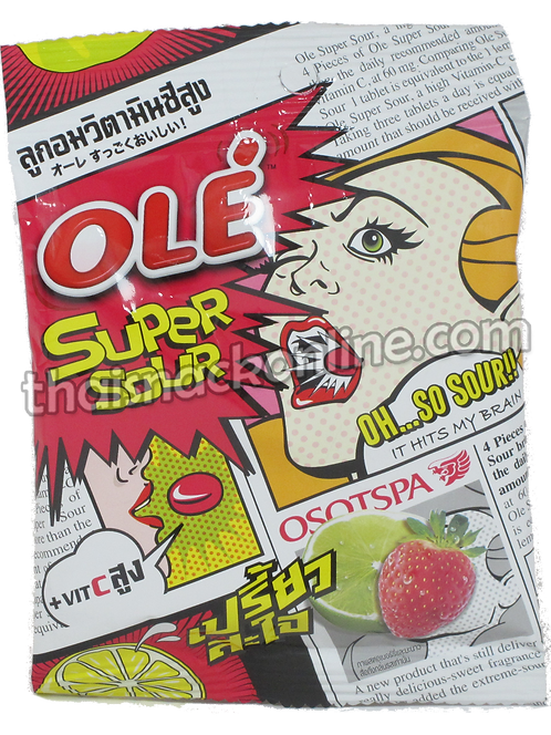 Ole' - Super Sour Candy Strawberry Lime (18g)