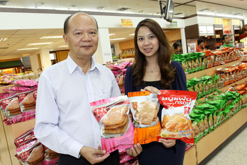 Executives introduced Rice Crackers