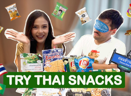 Brazilian tries Thai snacks | Asian Brasilian