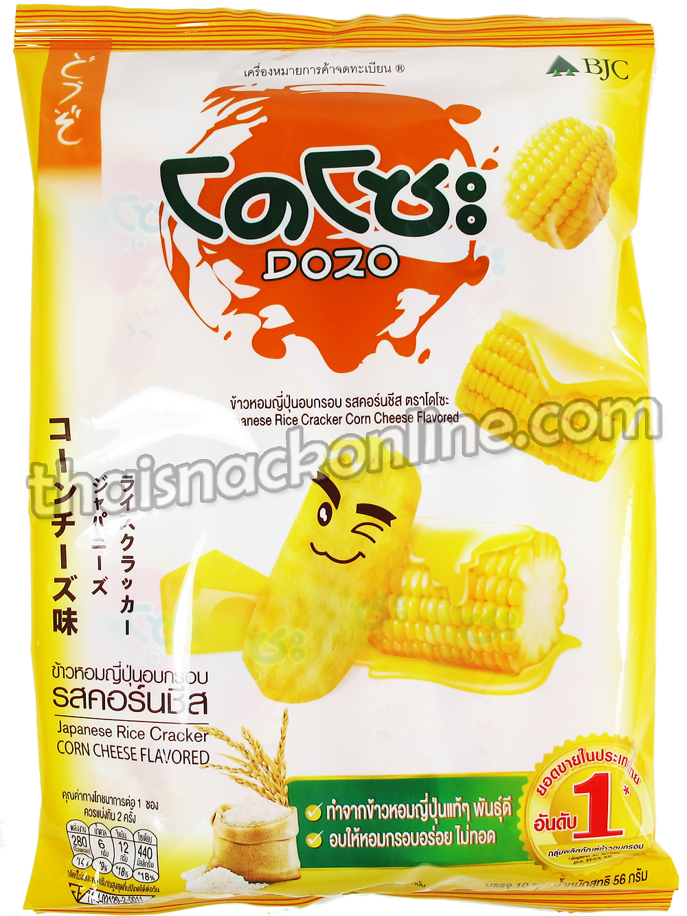 Dozo - Rice Cracker Corn Cheese (10x6g)