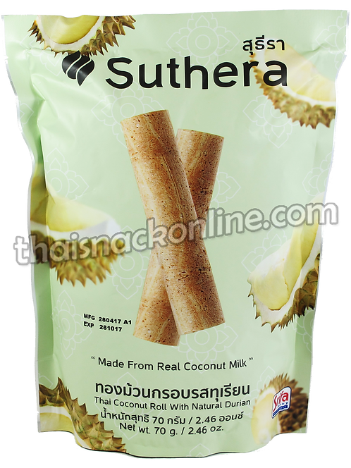 Suthera - Thai Coconut Roll with Durian (70g)