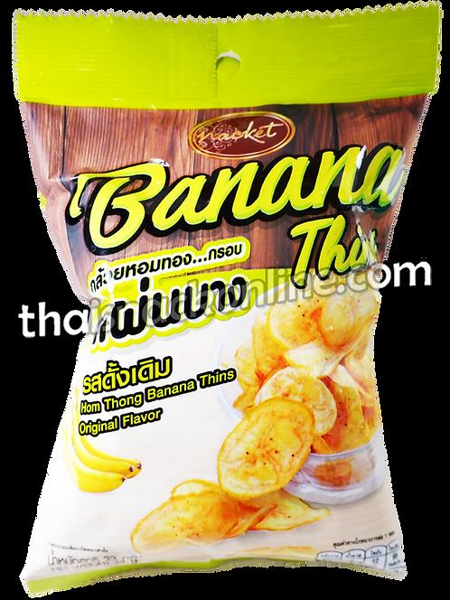 Nacket - Banana Chips Original Homthong (33g)