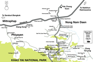 Khao Yai attractions map