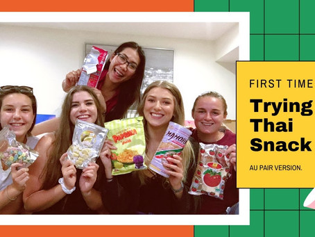My friends are trying Thai snacks | Itskaekan