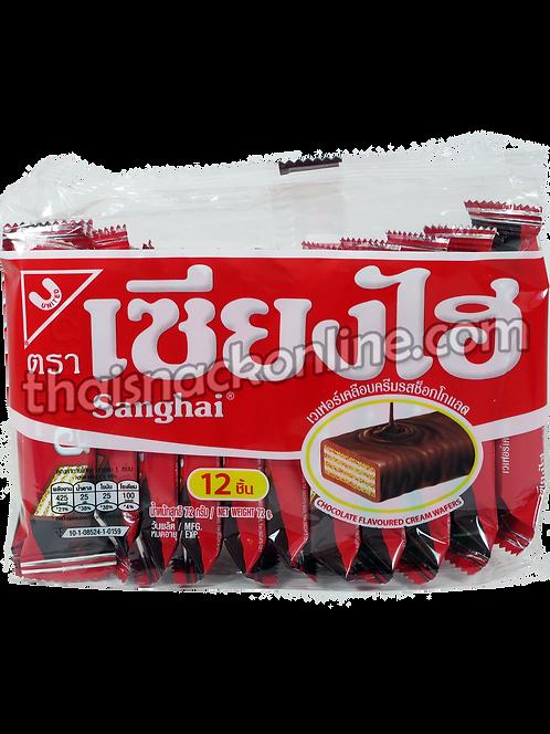 Sanghai - Wafers Chocolate Cream (12x6g)