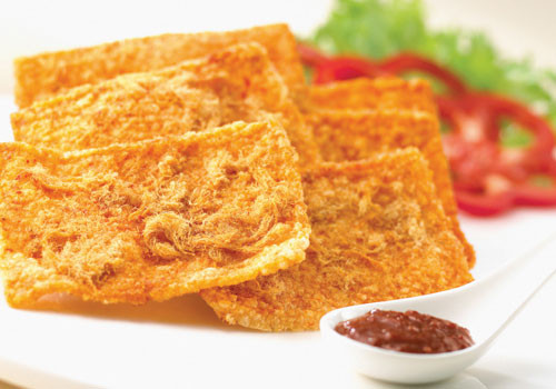 DIY Snacks | Rice Cracker with Pork Floss