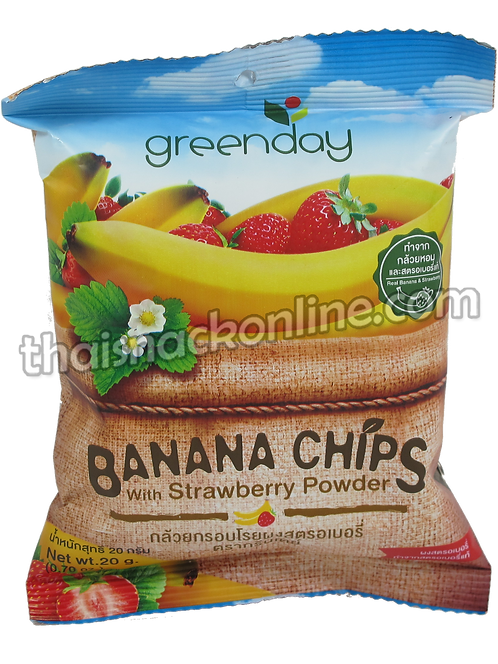 Greenday  - Banana Chips with Strawberry (20g)