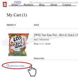 5. Add note to seller
