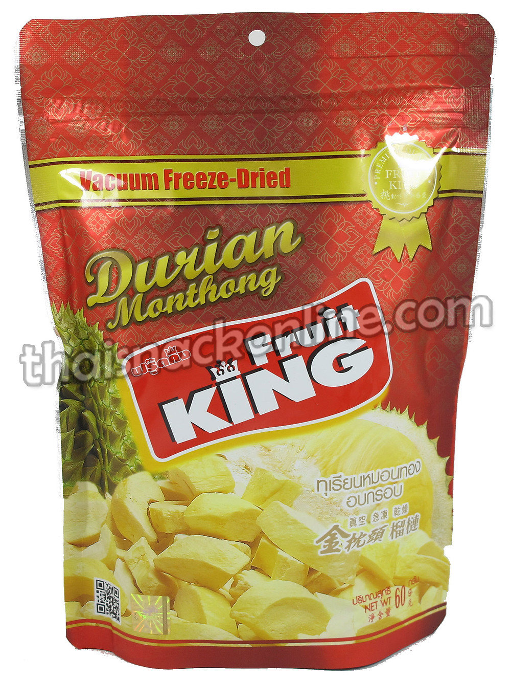 Fruit King - Dried Durian Monthong