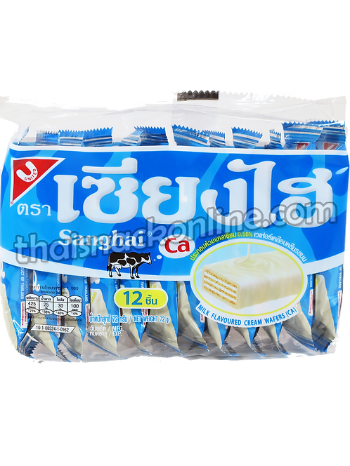 Sanghai - Wafers Milk Cream (12x6g)