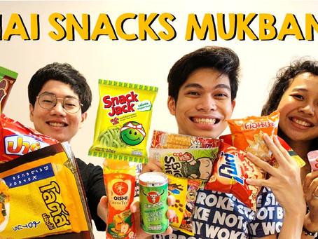 Favorite Ng Brightwin?! Thai Snacks Mukbang | Riu Rodriguez