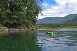 Kayaking Kootenay River