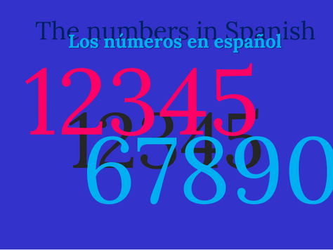 The Numbers in Spanish