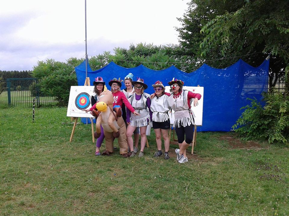 Bachelorette party, archery activity