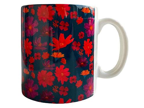 Indigo Blossom Mug