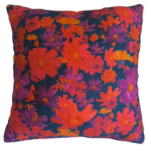 Indigo Blossom Cushion