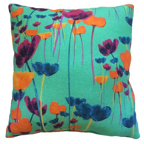 Tulip Rain Turquoise Cushon