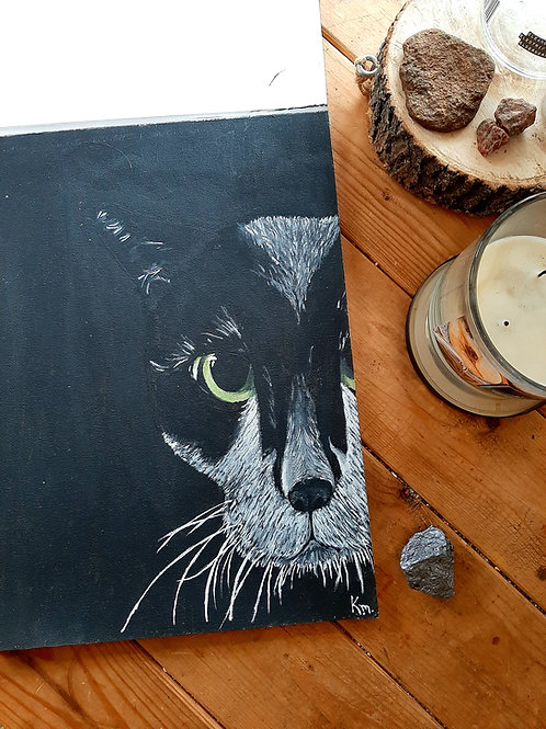 9 x 12 Black Cat