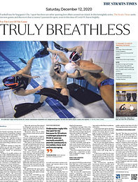 """Straits Times """"Truly Breathless"""" Featured Article: Dec 2020 Copy"""
