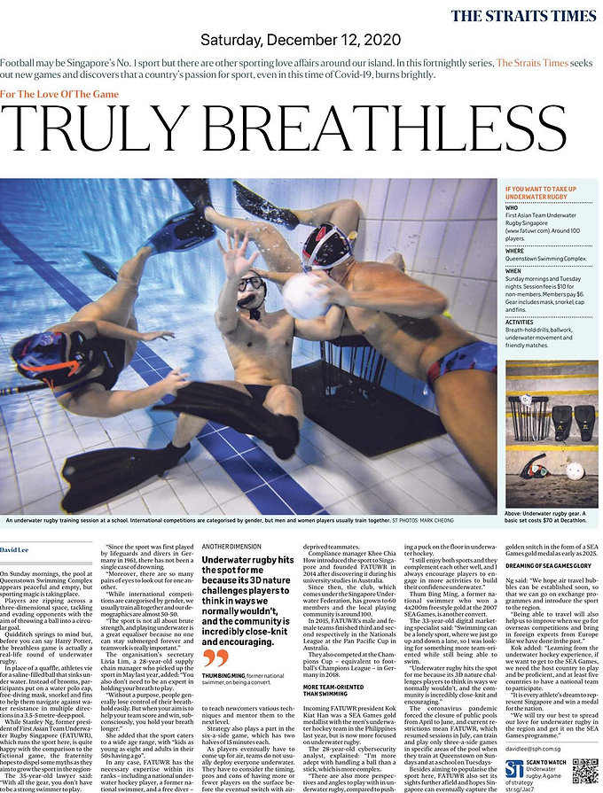 "Straits Times ""Truly Breathless"" Featured Article: Dec 2020 Copy"