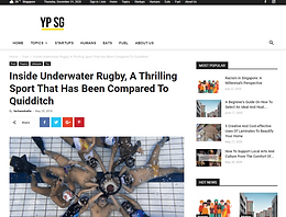 """YP.SG """"Inside Underwater Rugby, A Thrilling Sport That Has Been Compared To Quidditch"""" : May, 2018"""