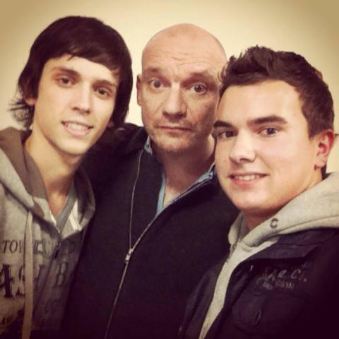 Thibault ,Adrien avec Gaetan Roussel