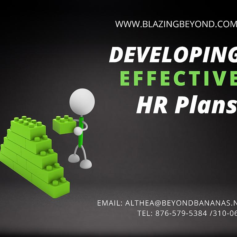 Developing Effective HR Training Plans Workshop