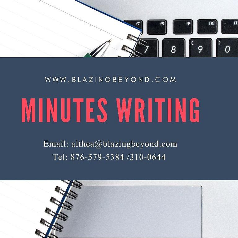 Effective Minutes Writing Workshop