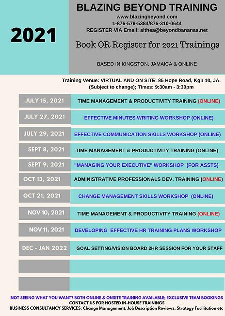 PAGE 2_ 2021 Annual Calendar - Blazing B