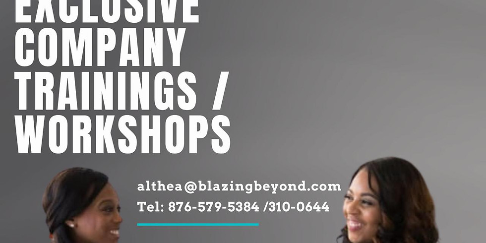 Sign Up For Your Exclusive Company Trainings/Workshops