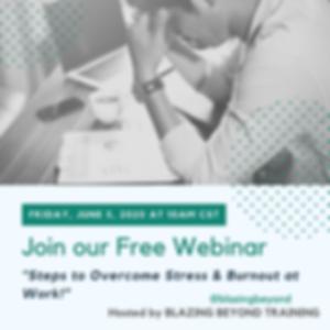 Webinar - June 5th - How to Overcome Str