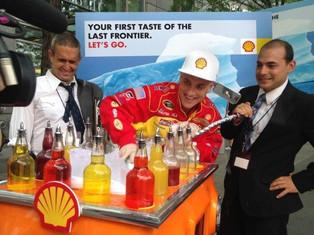 阻止全球暖化!偽裝成石油公司來賣冰的藝術計畫
